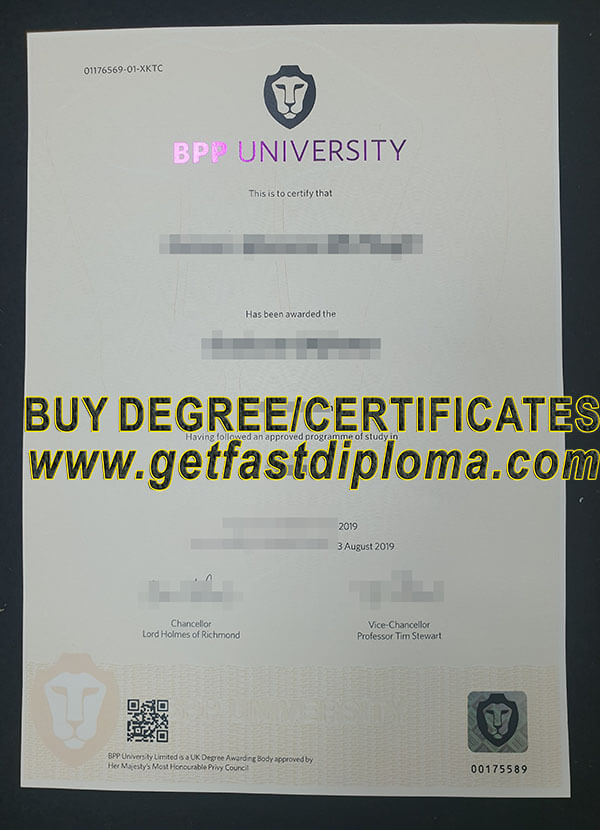 BPP university fake degree sample