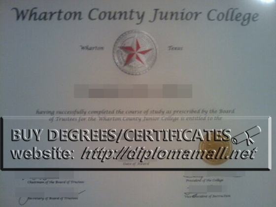 Buy Wharton County Junior College diploma certificate online