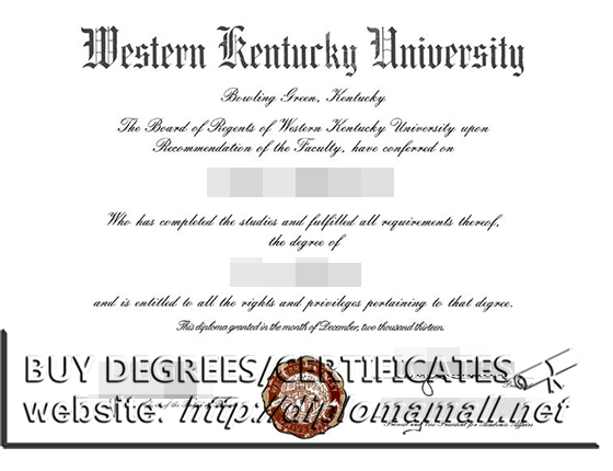 Western Kentucky university degree, buy fake USA diploma