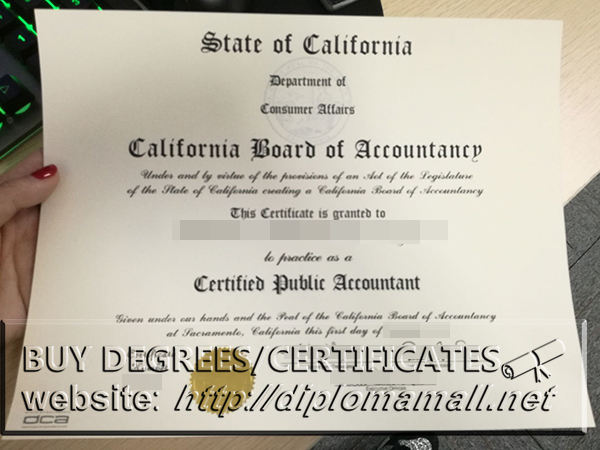 buy CPA certificate California. How to buy CA CPA certificate?