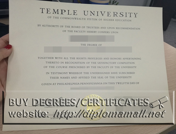 buy fake Temple University degree, How to make USA diplomas?