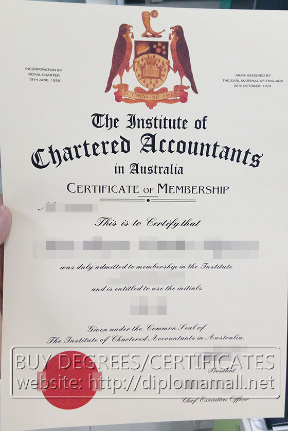 Chartered Accountants certificate
